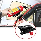 Adjustable Roll Bar Fire Extinguisher Mount KEMIMOTO Quick Release Metal Fire Extinguisher Holder with Clamps for Polaris RZR Ranger Jeep Wrangler Unlimited CJ JK TJ Rubicon Sahara Sport