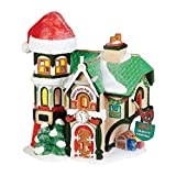 Department 56 North Pole Village Santa's Office Lit House, 7.48 inch