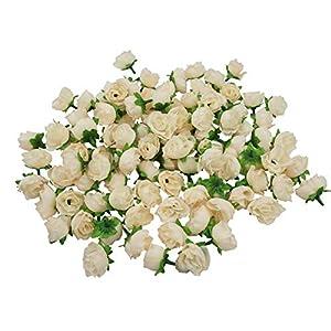 Artificial Silk Rose Head Colorfulife® 3cm Simulation Flower Bud Wedding Home Party Garden Decoration for Bridal Bouquet Wreath Headwear Clip DIY Accessories 6