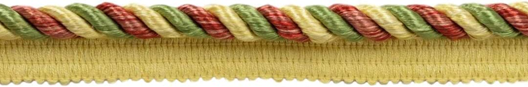 Alpine Green Maize Cord with Sewing Lip|Style# 0038MLT|Color: Carnival 8 Yard Value Pack|Multi Colored 3//8 inch Brick Dust 24 Feet // 7.3 Meters Beachwood PRA2B