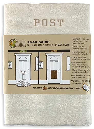 SNAIL SAKK: Mail Catcher for Letterboxes - Cream/Post. No Tools/Screws Required! Space efficient, Reduces Draughts, and More! (Basket Letter Cage Door Hardware Seniors Pregnant) ()
