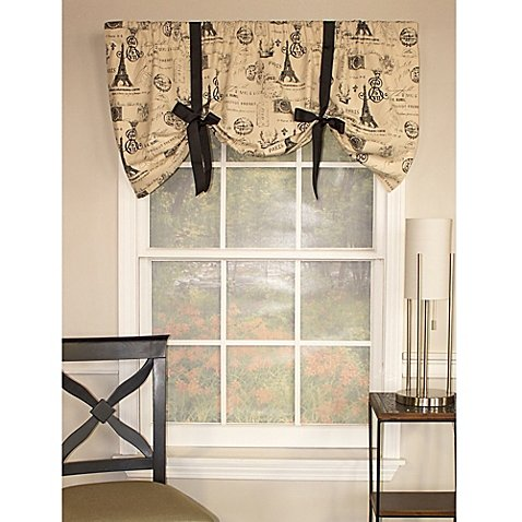 RL Fisher French Stamp Tie-Up Window Valance by RL Fisher