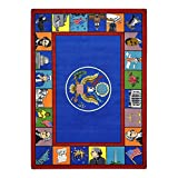 Joy Carpets Kid Essentials Early Childhood Symbols of America Rug, Multicolored, 5'4'' x 7'8''