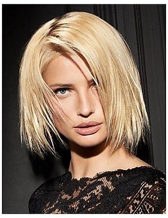Mittellange Haare Europäischen Weave Hellblonde Haare Perücke
