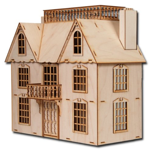 "Half Scale Van Buren Laser Cut Dollhouse Kit 1/2"" Scale"