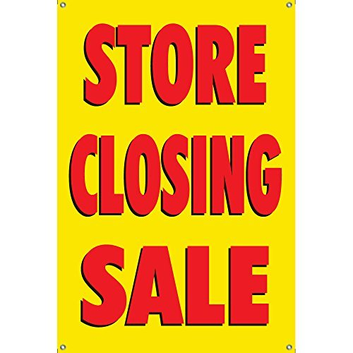 Store Closing Sale Banner 3Ftx2ft Yellow