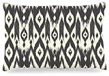 Kess InHouse Amanda Lane ''Black Cream Tribal Ikat'' Tan Dark Dog Bed, 30 by 40-Inch