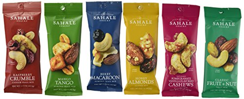 (Sahale Snacks All Natural Nut Blends Grab And Go Variety Pack (1.5 oz x 12 Packs) with 2 x 2