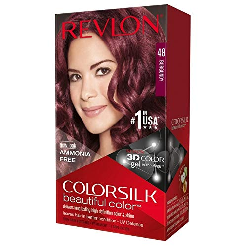 Revlon ColorSilk Beautiful Color, 48 Burgundy 1 ea (Pack of 4)