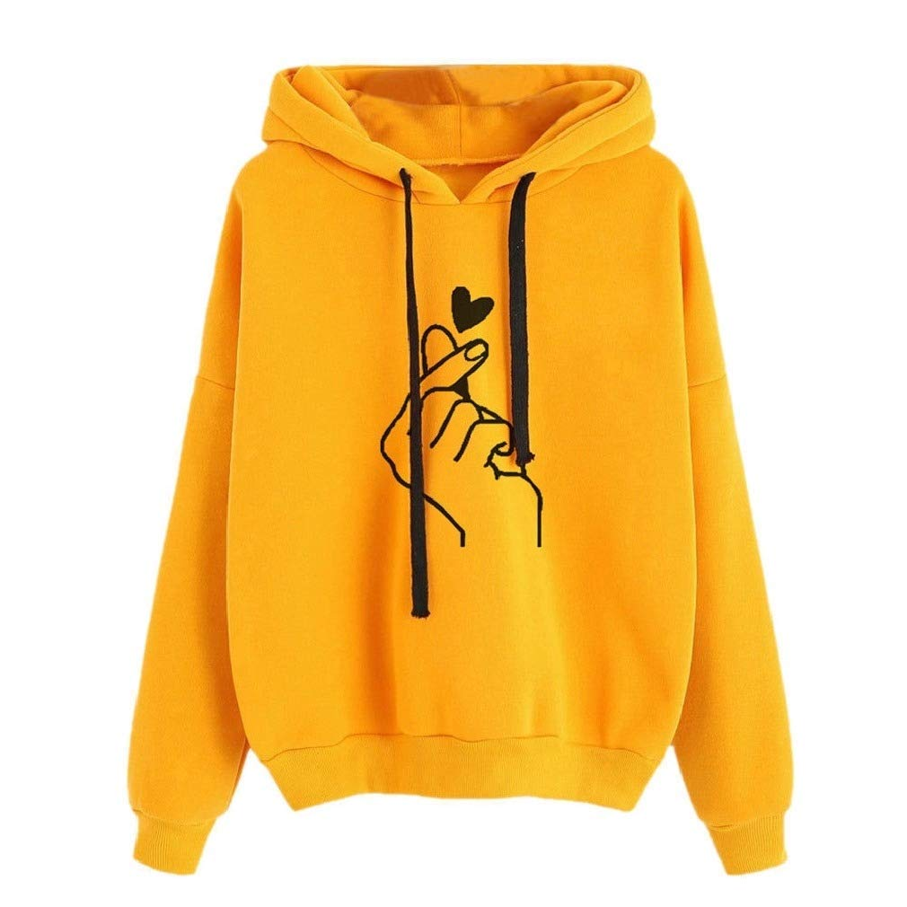 Vska Womens Printing Casual Long Sleeve Drawstring Sweatshirt Hoodies