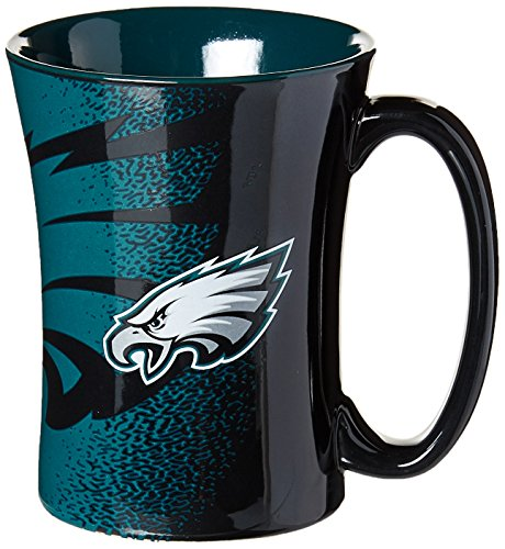 (NFL Philadelphia Eagles Mocha Mug, 14-ounce, Black)