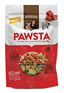 Rachael Ray Nutrish Pawsta Dog Treats, Riggies Stuffed with Beef Recipe, 4.5 oz (Pack of 6)
