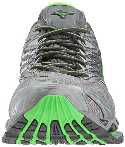 buy cheap footaction big sale sale online Mizuno Men's Wave Prophecy 7 Running Shoe Monument/Green Slime cheap sale sneakernews best finishline cheap price cXfpe