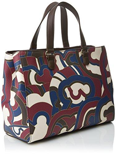 Tous City Myah de Lona - Borse a tracolla Donna, Varios colores (Burdeos / Marrón), 17x23x33 cm (W x H L)