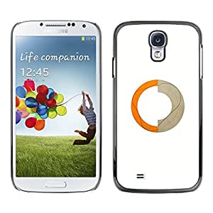 LECELL--Funda protectora / Cubierta / Piel For Samsung Galaxy S4 I9500 -- Abstract Ring Orange Beige Crescent --