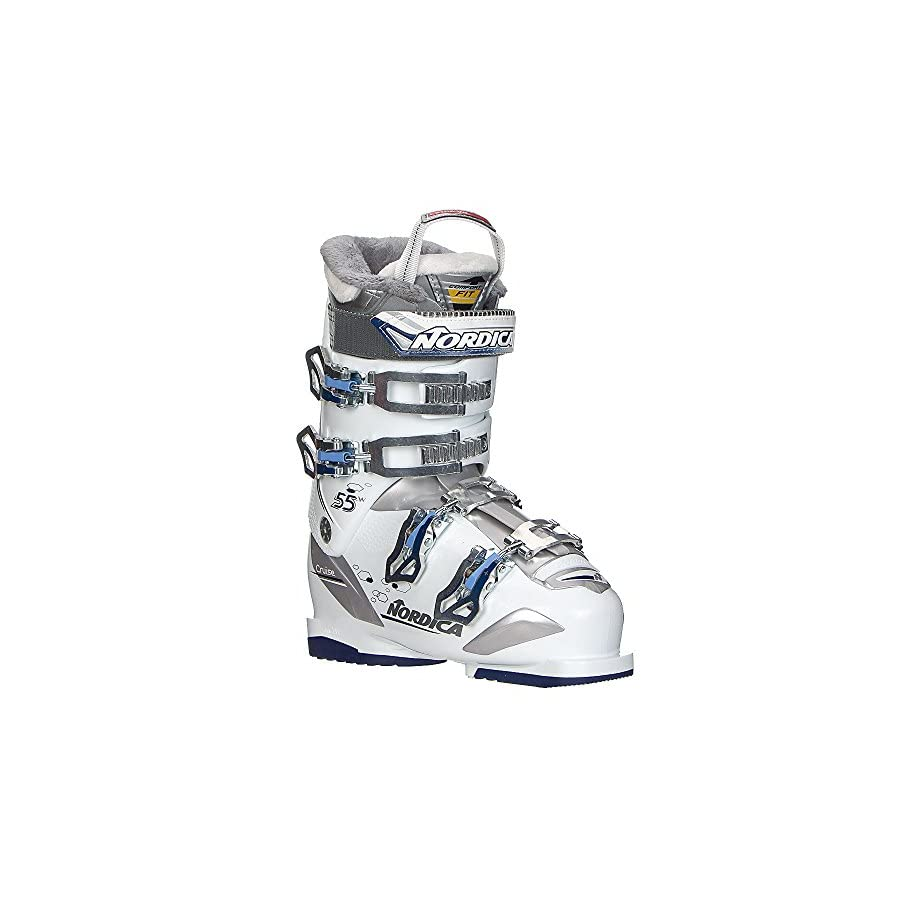 Nordica Cruise 55 W Womens Ski Boots 2018 22.5/White Blue