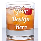 Cheap 11 oz Custom Rocks Glass – Glass Etched Personalized Whiskey Glass – Single Sided Bourbon or Old Fashioned Glass