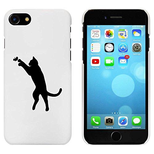 Blanc 'Chat avec Papillon' étui / housse pour iPhone 7 (MC00069332)