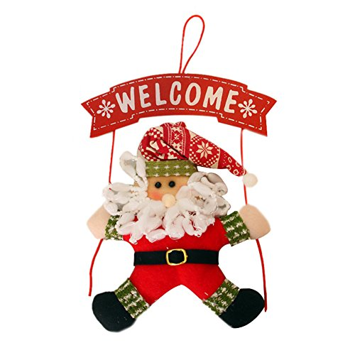 Oncefirst Festival Christmas Toys Home Door Santa Claus Snow