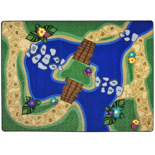 Kid Essentials Alphabet Trail Kids Rug Rug Size: 10'9'' x 13'2'' by Joy Carpets