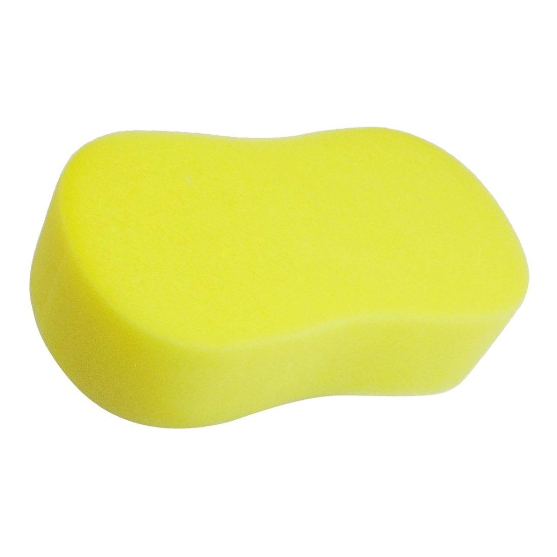 Moligh doll Yellow Soft Sponge Car Wagon Washing Cleaning Glass Seat Cushion 23g