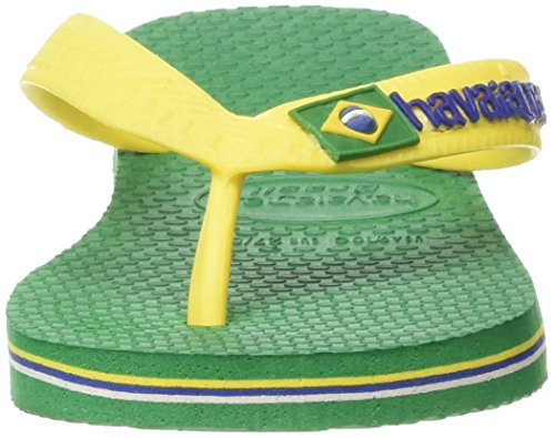 Havaianas Unisex - Erwachsene Zehentrenner Damen/Herren Brasil Grün (Green 2703)