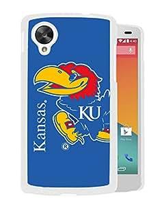 NCAA Kansas Jayhawks 5 White Google Nexus 5 Protective Phone Cover Case