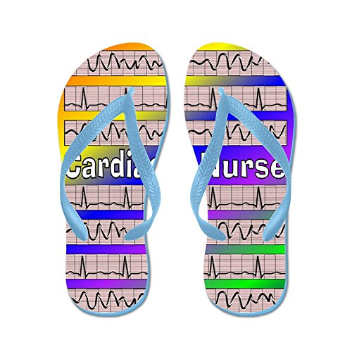 CafePress Cardiac Nurse - Flip Flops, Funny Thong Sandals, Beach Sandals Caribbean Blue