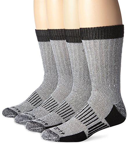 Carhartt Men's 4 Pack All Season Wool Work Socks, Black, Shoe Size: 6-12 (Best Wool Work Socks)