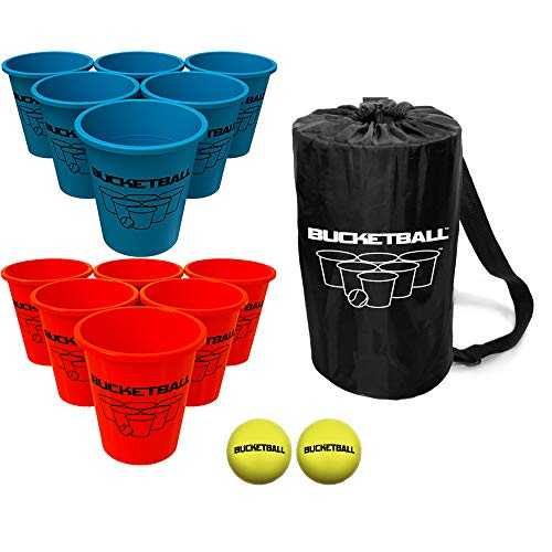 Bucket Ball - Beach Edition Starter Pack - Ultimate Beach, Pool, Yard, Camping, Tailgate, BBQ, Lawn, Water, Indoor, Outdoor Game - Best Gift Toy for Adults, Boys, Girls, Teens, Family]()