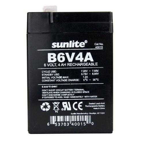 Sunlite 40015-SU B6V4A 4-Amp Hour Emergency Backup Battery, 6-volt