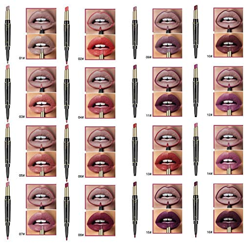 GuGio Womens Double-end Lasting Waterproof Lip Liner Lipstick Pencil