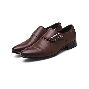 ZIXUAP Zapatos de Vestir para Hombre - Zapatos con Cordones ...
