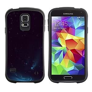 LASTONE PHONE CASE / Suave Silicona Caso Carcasa de Caucho Funda para Samsung Galaxy S5 SM-G900 / Aurora Borealis Blue Night Sky Lights