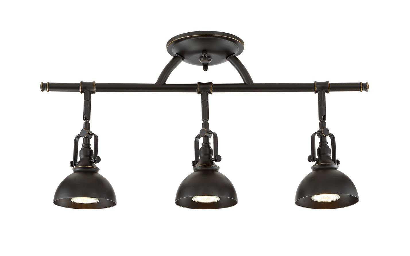 "Kira Home Broadway 23"" 3-Light Industrial Directional Track Light, Bronze Finish"