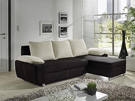 Sofá Nick 239 x 152 cm Color negro sofá cama sofá cojín ...