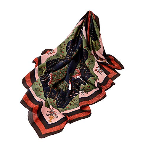 ▲Londony▲ Shawls and Wraps, Autumn Spring Soft Jungle Print Square Shawl Scarf Lightweight Scarves For Women ()