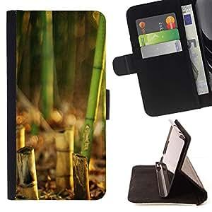 For HTC Desire 820 Case , Naturaleza Hermosa Forrest Verde 135- la tarjeta de Crédito Slots PU Funda de cuero Monedero caso cubierta de piel