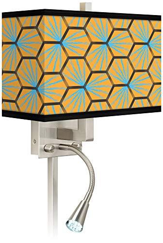 Hexagon Starburst Giclee LED Reading Light Plug-in Sconce - Giclee Glow