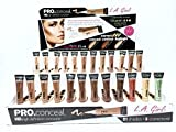 144pc L.A.Girl Pro Concealer Display set of 21 colors (#969-989) + 3 corrector (#990-992)