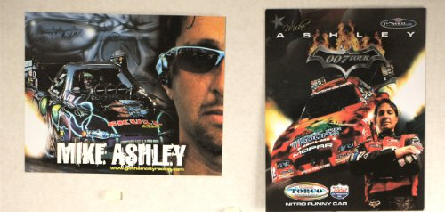 2008 - NHRA/Powerade Drag Racing Series - Mike Ashley - Dodge Charger/Mopar - 007 Tour/Nitro Funny Car - Support Our Troops Car - 2 Promo Cards - Rare - Collectible (Nitro Drag Racing Best Cars)