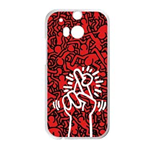 Canting_Good DIY New Keith Haring Red Case for HTC ONE M8