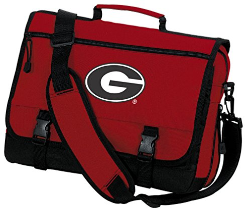 Georgia Bulldogs Laptop Bag University of Georgia Messenger Bag or Computer Bag by Broad Bay