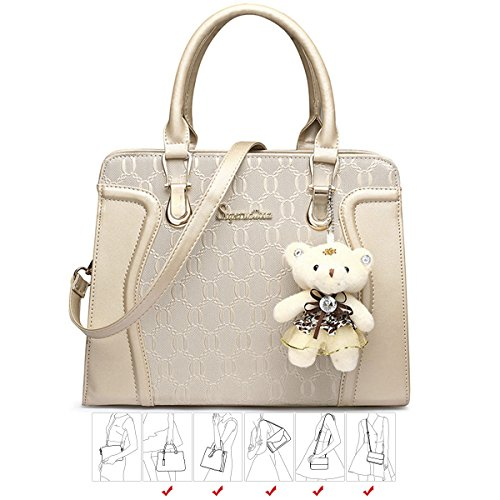 Soperwillton Handbag for Women Tote Bag Shoulder Bags Satchel 4pcs Purse Set ebfda9618e1ab