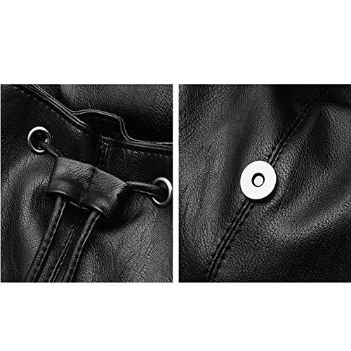 Messenger Bag Bandolera Bolso Mochila Black1 Flip Pu OzAwqa