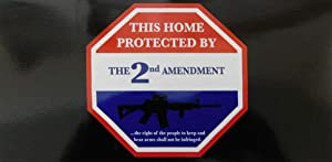 Wholesale Lot of 6 This Home Protected by The 2nd Amerndment Bumper Sticker