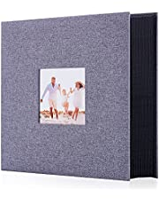 Artmag Fabric Photo Album 4x6 600 Large Capacity for Family Wedding Anniversary Linen Album Holds 600 Horizontal and Vertical Photos (600 Pockets, Grey)