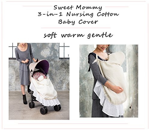 Sweet Mommy Maternity and Nursing 3-in-1 Cotton Baby Cover Brown, F by Sweet Mommy (Image #7)