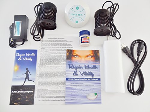Ionic foot cleanse. Ionic Foot Bath Spa Chi Cleanse Unit for Home Use. Best Home Foot Spa. Comes with Free Regain Healh & Vitality Booklet (Aqua Chi Foot Bath)