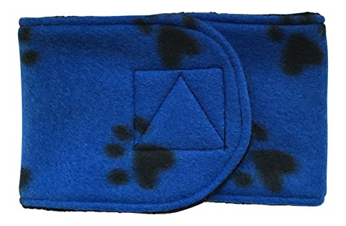 Cuddle Bands Male Dog Belly Band for Training and Incontinence (Blue Paw Print), Washable and Reusable